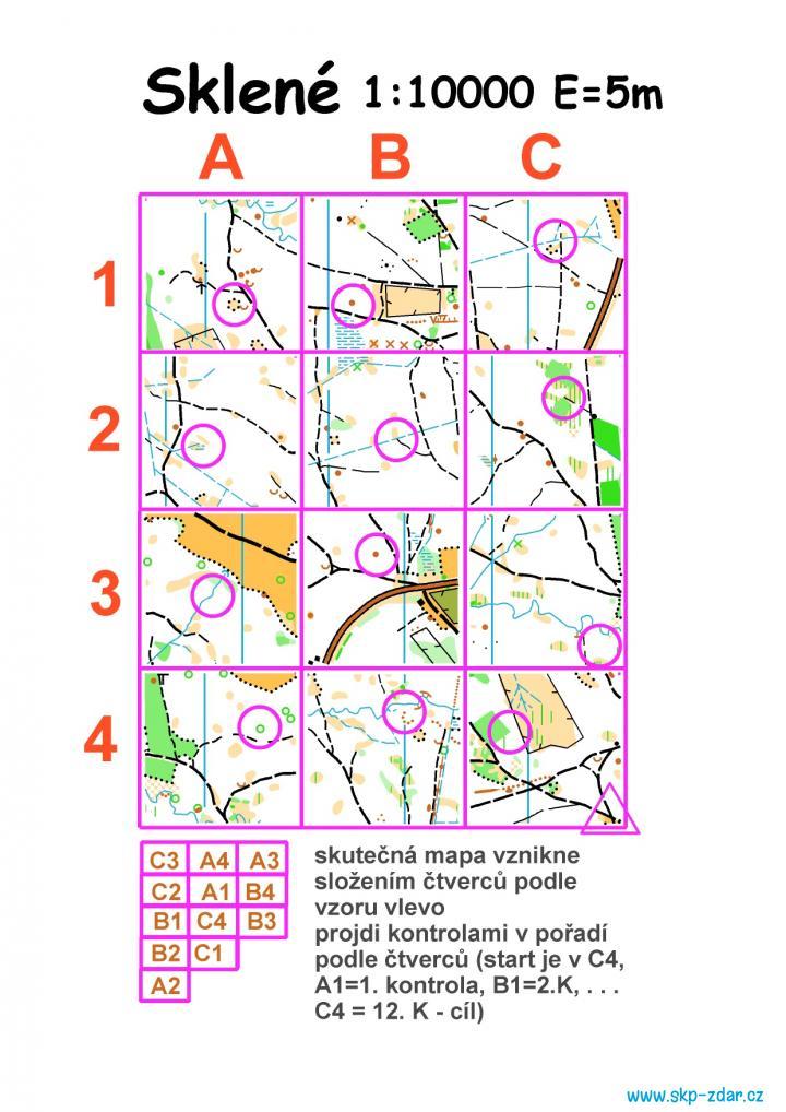 trénink - mapa pro O-mistry